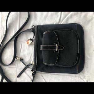 Black Dooney and Bourke canvas crossbody bag